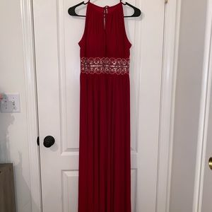 red brides maid/prom dress.